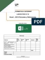 Lab 02 - Excel 2013 - Fórmulas y Referencias