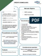 Guia de Credito Domiciliado Prestamo IMSS Marzo 17