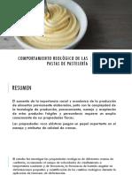 Comportamiento Reológico de Las Pastas de Pastelería