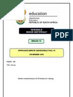 Afrikaans FAL P3 Nov 2009