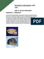 Terminos Petrologicos y Geologicos; Más Detalle de Mena (Mineria)