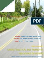 Caracteristicas Del Transito - Velocidad de Diseño