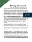 Third Party Complaint