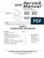 Schematic Diagrams for Mitsubishi WS-55815