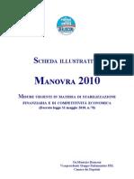 Scheda Illustrativa Manovra 2010
