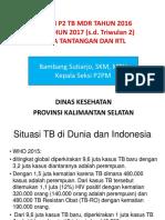 Data P2 TB MDR Per 30 Juni 2017_workshop TB MDR