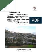 Estudio de Caracterizacion San Pablo- Gestion y Manejo Integral de Residuo Solido