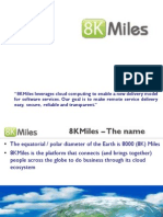 8KMiles presentation on Amazon AWS Cloud computing infrastructure