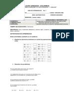 GUIA DE  MATEMATICAS  GRADO 3°