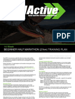 Half Marathon Training Plan Beginner