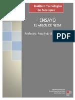 Ensayo - Árbol de Neem