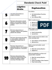 standards checkpoint rubric