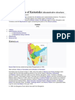 List of Districts of Karnataka Administrative Structure