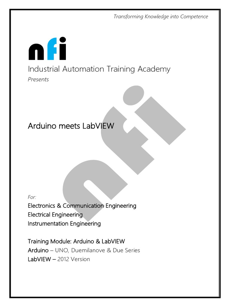 Nfi Arduino Labview Training Embedded System Duemilanove Uno The Digital Inputs And Relay Outputs