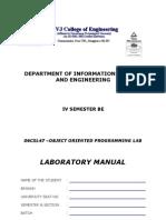 06csl47 Oops Lab
