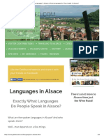 Languages in Alsace. What Languages Do They Speak in Alsace.