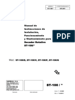 ST1 ES 03 414060 Manual de Instrucciones de Instalación, Funcionamiento y Mantenimiento Para ST-100
