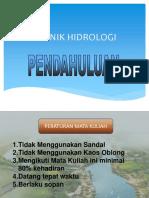 Teknik Hidrologi