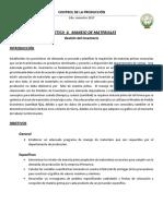 Practica 4. Manejo de Materiales, Gestión Del Inventario
