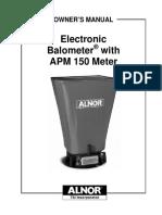 Alnor Apm150 User Manual