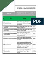 Listado de Charlas de Disergonomia