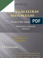 Uso de Mayusculas Rae