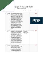 Daftar LogBook Praktek Industri