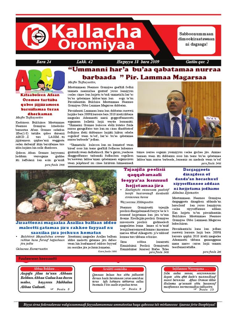 Kallacha Oromiyaa Bara 24 Lakk  42