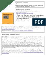 Nicholas de Genova's 2013 article, ''We Are of the Connections'