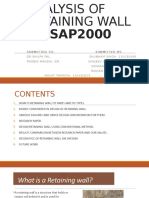 ANALYSIS OF RETAINING WALL ON SAP 2000.pptx
