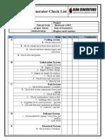 Alba Genset Check List