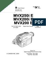 Canon Mvx200 Mvx250i-Sm