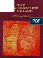 The Pali Literature of Ceylon