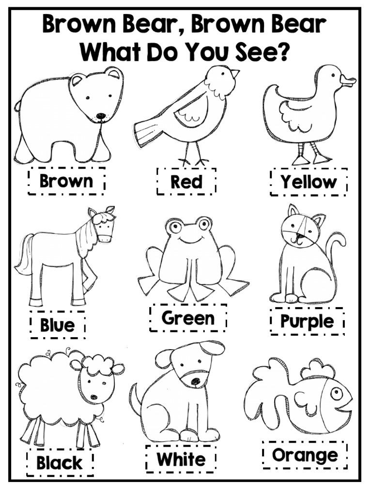 Brown Bear Brown Bear Coloring Activity Brown Art Materials