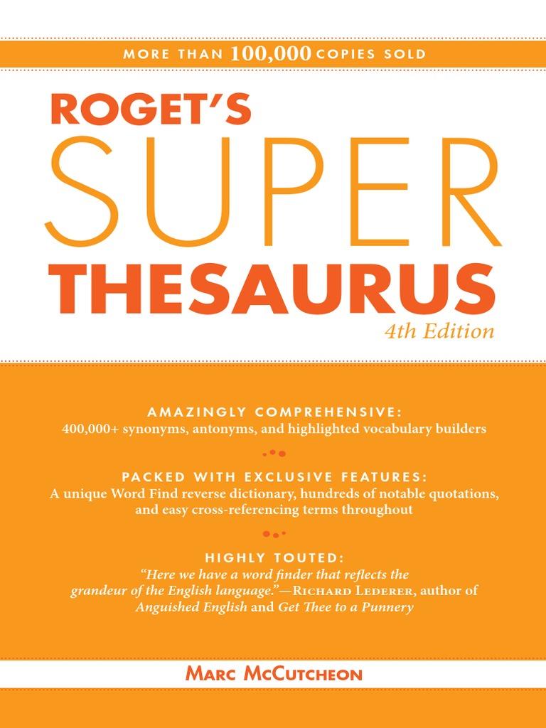 586832d208f Roget's Super Thesaurus - 4E (2010) | Adverb