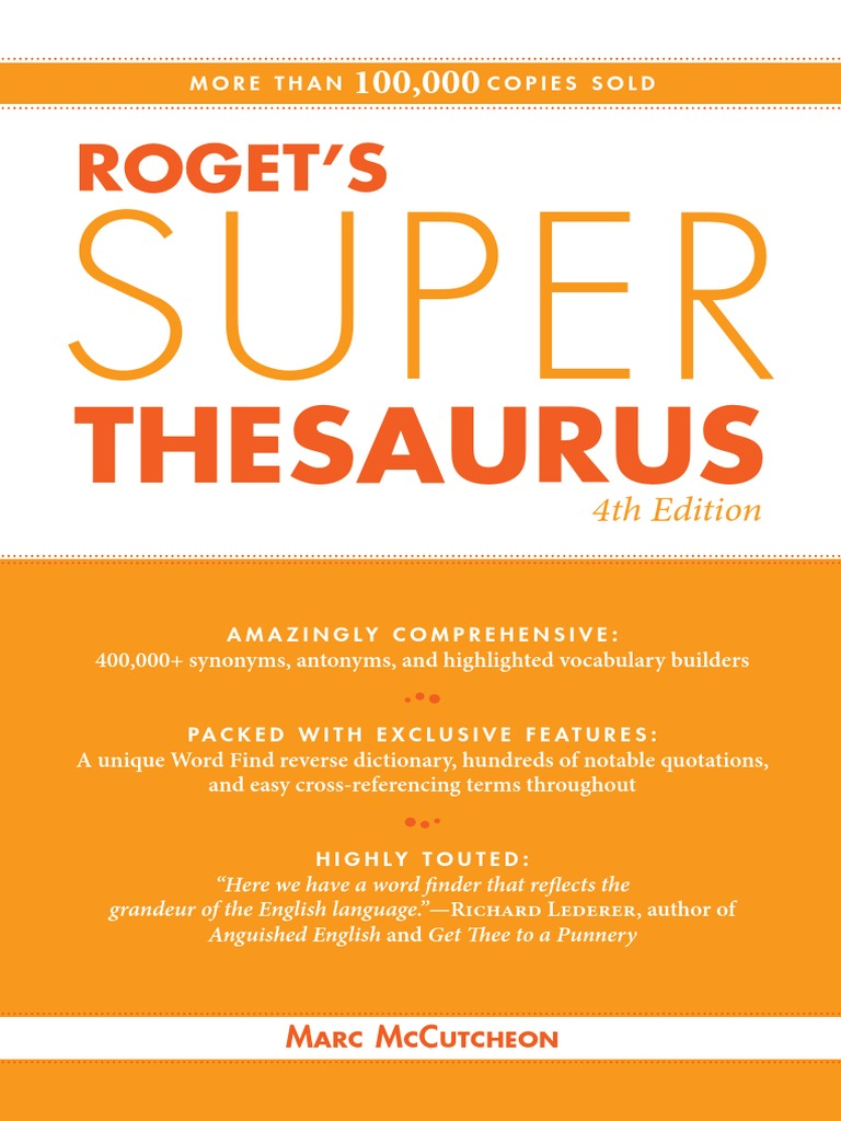 Roget's Super Thesaurus - 4E (2010) pdf | Adverb