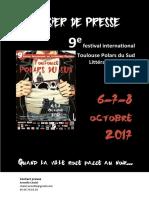 Dossier Presse Festival Toulouse Polars Du Sud 2017