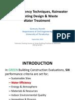 Green Building and Water Efficiency IESL Sepember 2012- Dr.gemunu Herath