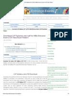 CAT Syllabus 2017 PDF for MBA Entrance Exam - CAT Exam Pattern