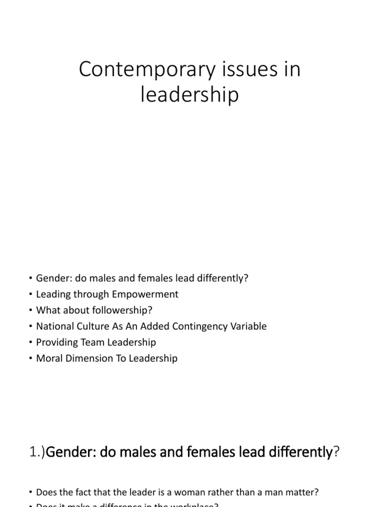 leadership why gender and culture matter