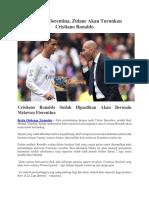 Melawan Fiorentina, Zidane Akan Turunkan Cristiano Ronaldo