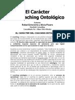 El Caracter del Coaching Ontologico.pdf