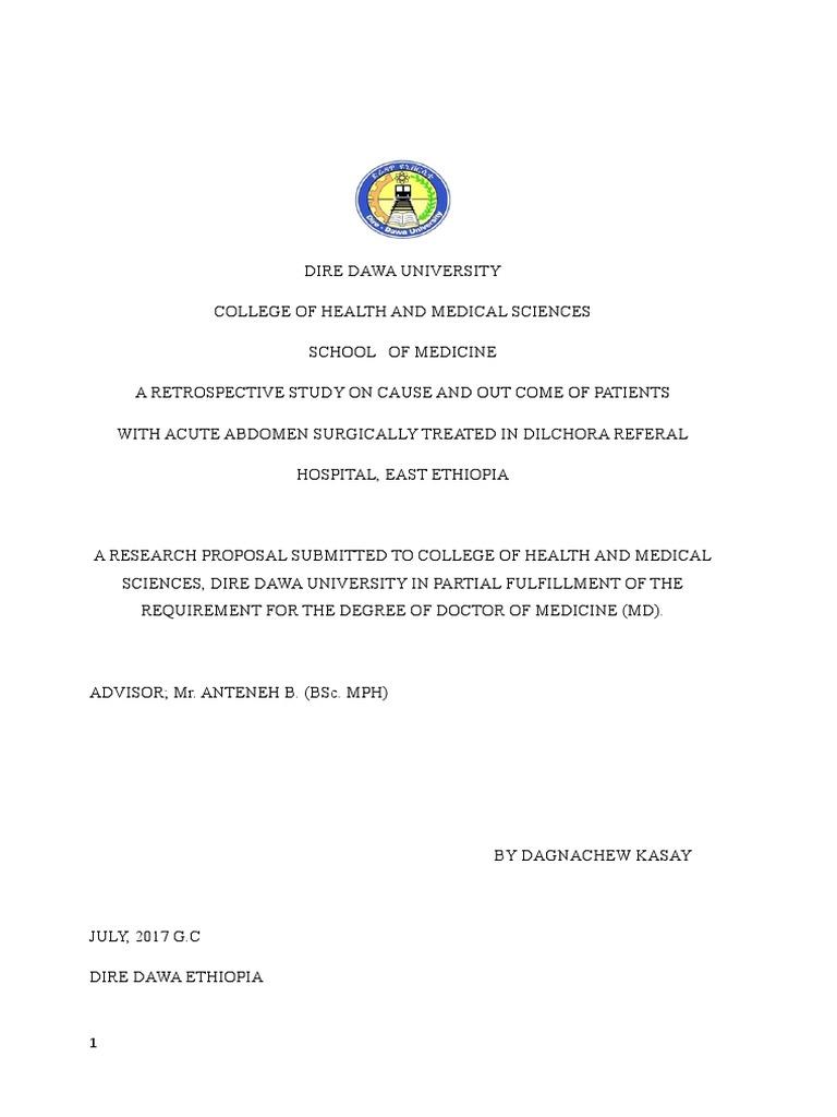 Rewritten Proposal Final | Surgery | Medical Specialties