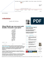 Gilmar Mendes Age Como Quem Pode Desafiar e Desacatar o Que Quiser - 24-08-2017 - Janio de Freitas - Colunistas - Folha de S