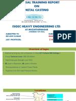 industrial training report casting