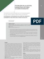 Cooperacion e Integracion en La Gestion de La Cadena de Suministros en Pymes de Calzado en La Ciudad de Bogota