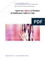 project on LAKME.doc