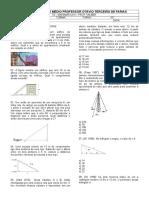 TD - Teorema de Pitágoras 2° ano