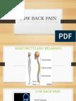 Penyuluhan Low Back Pain