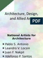 Contemporary Arts (Architecture and Allied Arts Design)